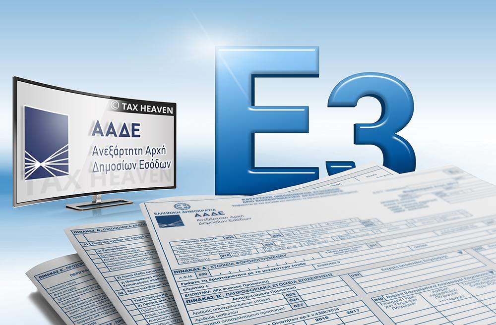 Το νέο έντυπο Ε3 για τις φορολογικές δηλώσεις 2020
