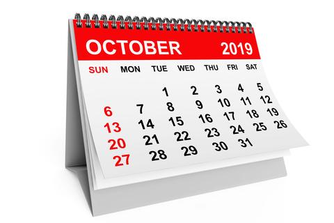(Upd) Σημαντικές φορολογικές και λοιπές υποχρεώσεις μηνός Οκτωβρίου 2019