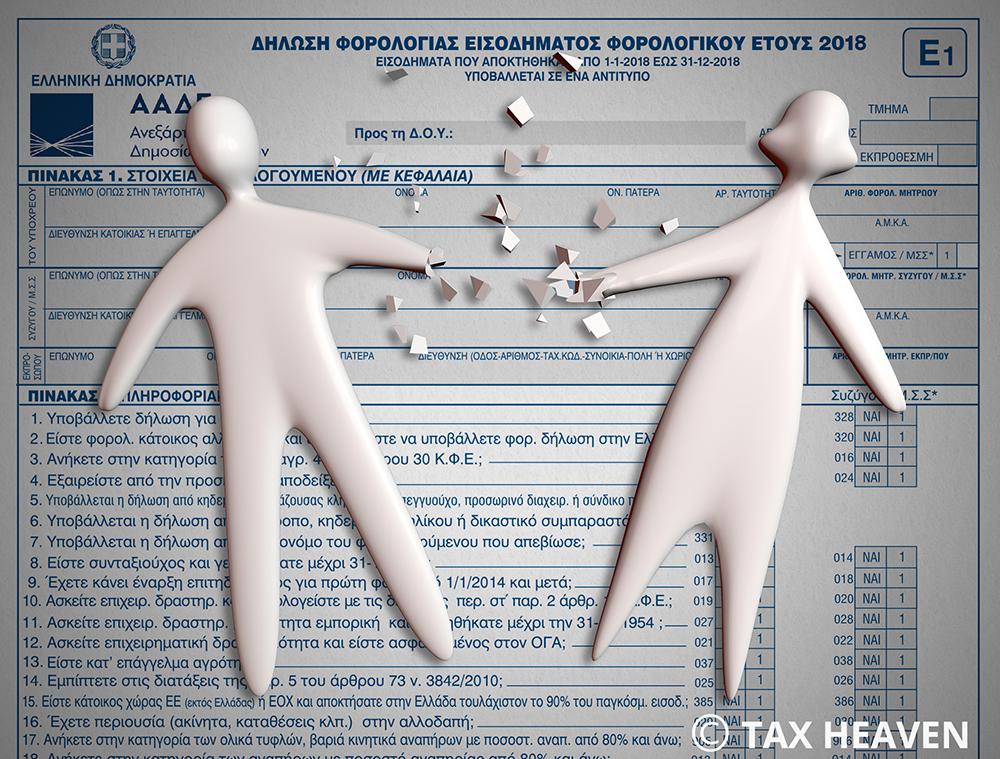 Χωριστές δηλώσεις συζύγων: Ανοιχτή και πάλι η εφαρμογή για υποβολή αιτήματος