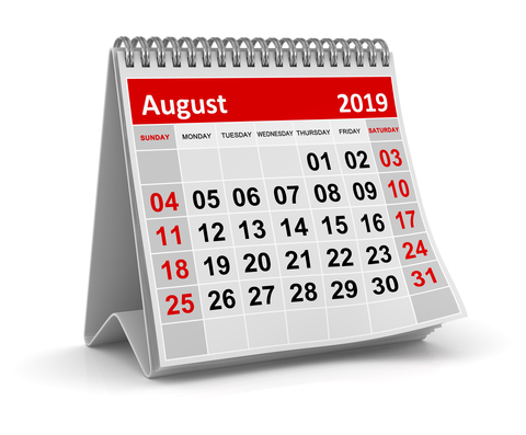 Σημαντικές φορολογικές και λοιπές υποχρεώσεις μηνός Αυγούστου και 2ας Σεπτεμβρίου 2019
