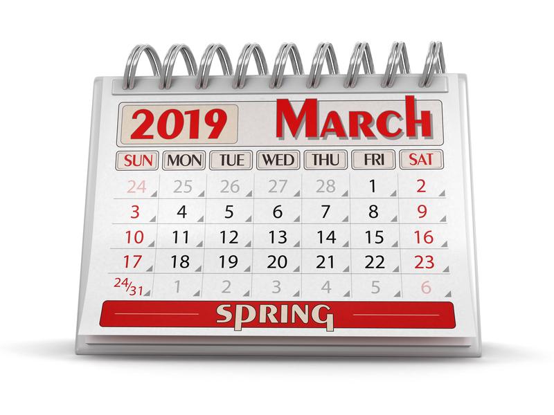 (Upd 3) Σημαντικές φορολογικές και λοιπές υποχρεώσεις μηνός Μαρτίου 2019