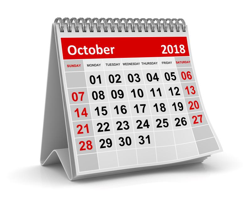 (Upd) Σημαντικές φορολογικές και λοιπές υποχρεώσεις μηνός Οκτωβρίου 2018